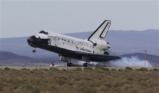 发现号航天飞机着陆瞬间