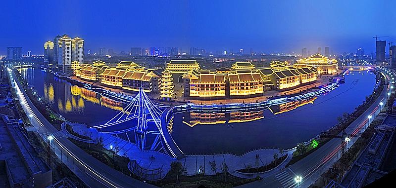 临沂万兴都国际商业公园夜景