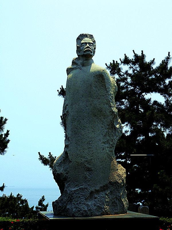 """鲁迅先生石像-""""孔子故乡 中国山东""""国际网络摄影大赛"""