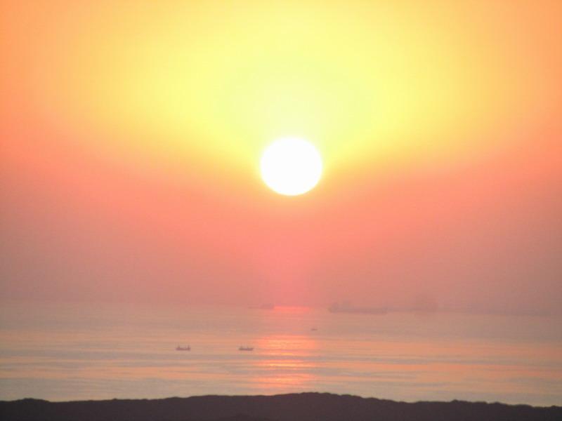 作品简介:                          早晨太阳从海