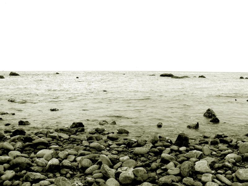 沙滩鹅卵石铺地图片大全素材