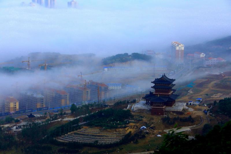 威海平流雾之一