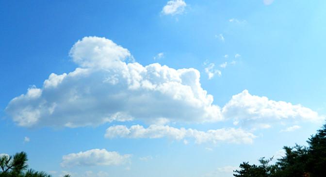 泰山上的白云