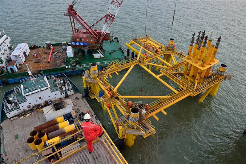 海洋石油平台施工