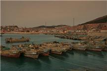 冬日渔村码头一瞥