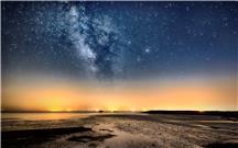黄河入海口银河