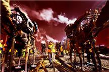 组照:《抢修高铁线路》
