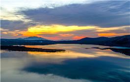 水似晨霞照,林疑彩凤来。