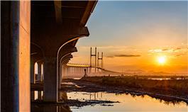 长会口大桥的早晨