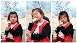 吃煎饼的沂蒙小妮