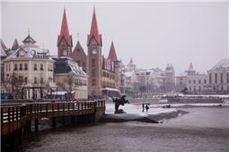 雪中渔人码头
