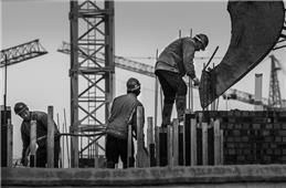 建筑工地的农民工