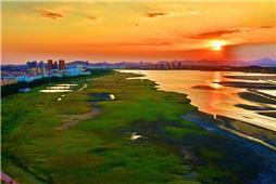 日落潮汐湖