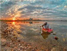 夕阳下的摄影人