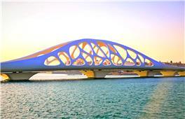 夕阳下的珊瑚贝桥