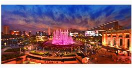 《泉城广场夜色美》