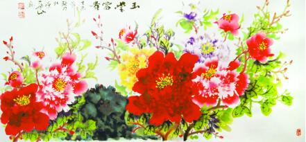 花朵拟人q版人物