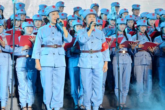 临沂罗庄唱响长征组歌纪念红军长征胜利80周年