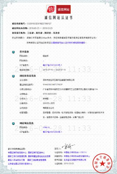 链金所荣获诚信网站认证,为垂直细分领域树立标杆