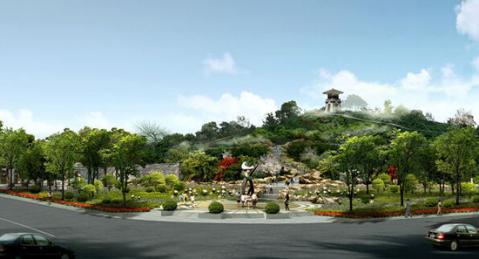 园概念融入城市规划 济南东部新城楼盘拼起景观绿化