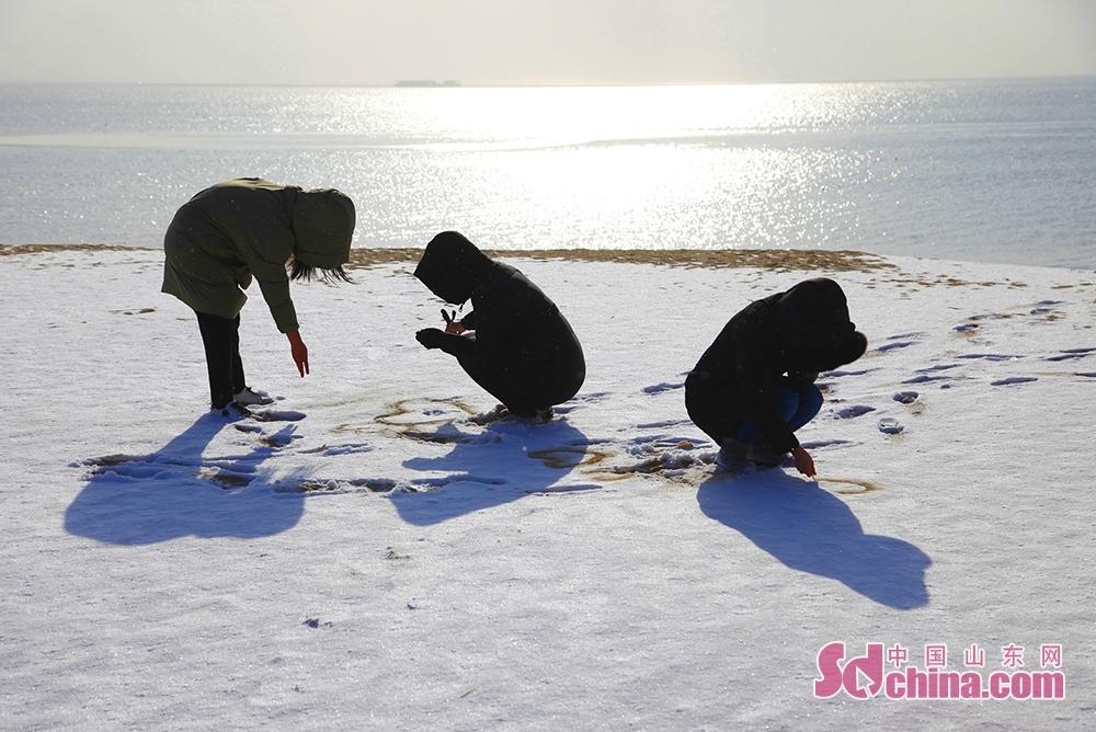 <br/>  南海新区的众多居民就算是被冻得瑟瑟发抖,也要出门赏雪、拍雪,将自己与这渲染出来的白色梦幻世界融为一体,尽享冬天雪之乐。<br/> <br/> <br/>