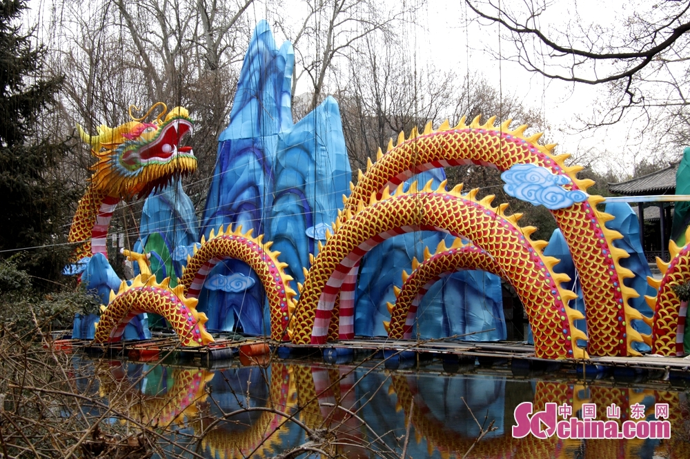 The dragon-and-spring-themed lantern, 13 meters high and 40 meters long, is the largest lantern of the festival.