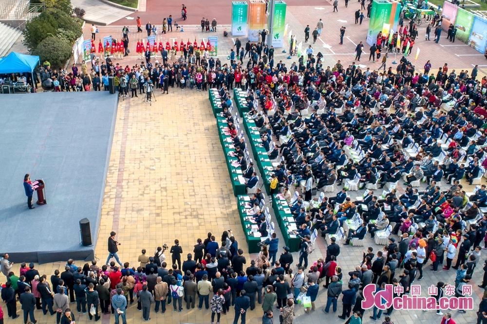 10月20日午前、中国・章丘ねぎ文化観光祭は済南市章丘区で開幕した。<br/>