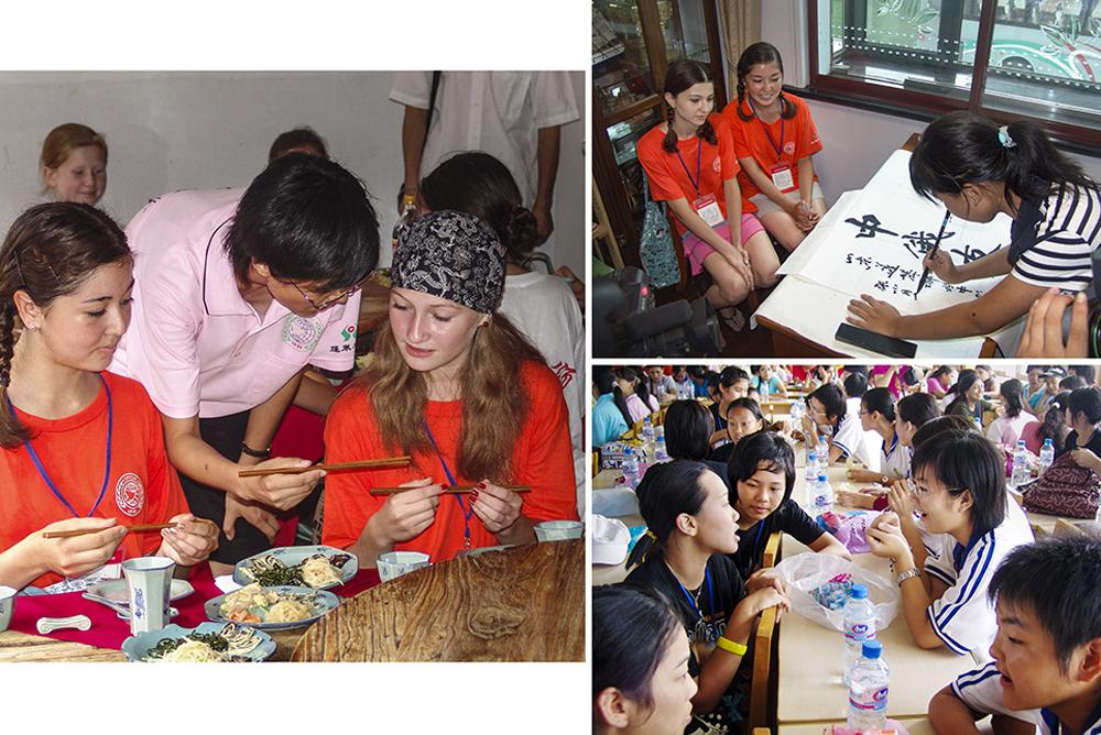 《传播友谊2006年》(组图)2006年,中国蓬莱&amp;ldquo;和平颂&amp;rdquo;国际青少年文化艺术节期间,来自俄罗斯、韩国、肯尼亚等7个国家的青少年与蓬莱市易三小学的学生进行交流。(赵光)<br/>