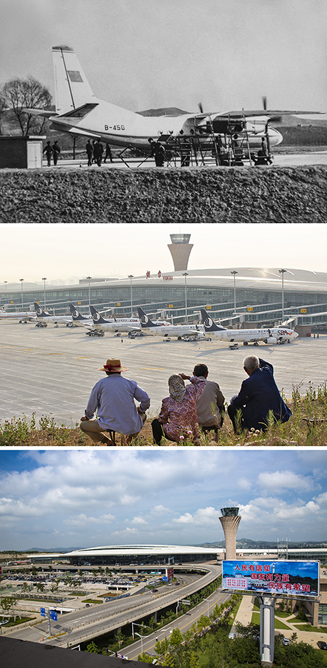 《烟台机场腾飞记》1984年 8月,中国民用航空烟台站成立。1997年1月20日,烟台机场被国务院批准为国家一类航空口岸。2015年5月28日,烟台蓬莱国际机场启用。截止2018年12月10日,烟台蓬莱国际机场旅客吞吐量突破800万人次。(程少纯、唐克、穆永安)<br/>