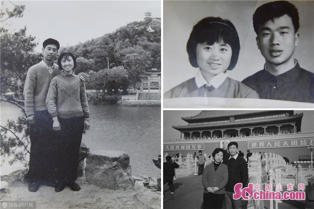 <br/>  2018年12月5日,青岛市辽宁路街道的三对老人提供的40年前结婚时照片。(拼版照片)<br/>
