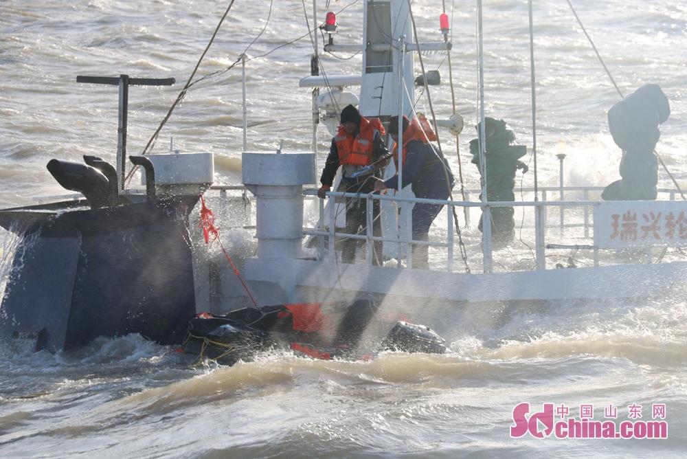12月8日12时40分,北海救助局接东营海上搜救中心通报:货船&amp;ldquo;瑞兴轮&amp;rdquo;在潍坊东北20海里处货舱进水下沉,船上人员危在旦夕。<br/>