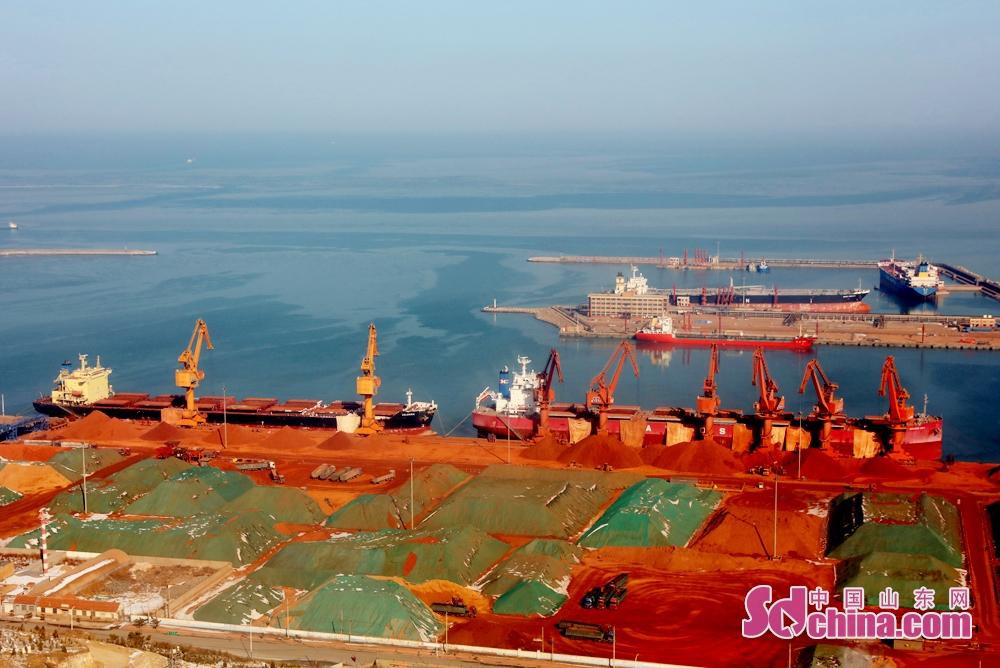 <br/>  2月1日上午,烟台莱州港异常繁忙。<br/>