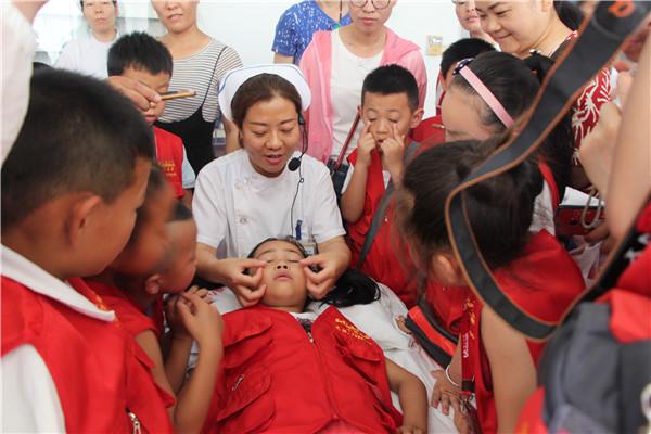 中国山东网小记者走进淄博市中医院 感受中医文化与魅力