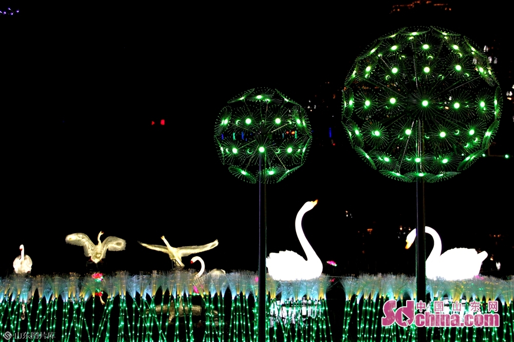 Photo taken on January 26 shows a set of lanterns during a lantern fair in the forest park in Jining, east China's Shandong Province.<br/>