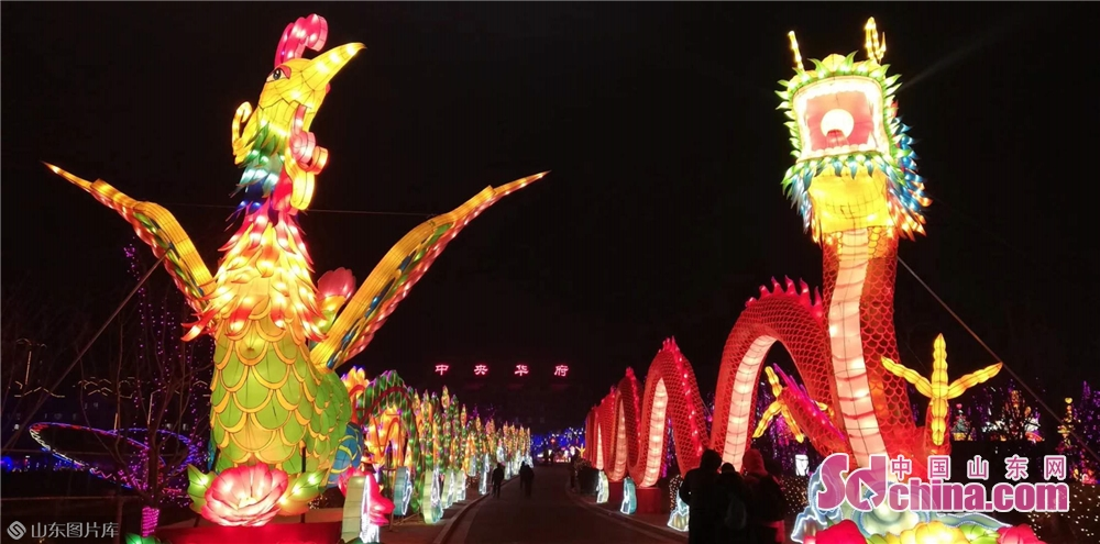 Visitors view lanterns during a lantern festival on January 30, 2019 in Xiashan District of Weifang, east China&amp;rsquo;s Shandong Provicne. The 4th Xiashan Spring Lantern Festival and the 3rd Xiashan Food Festival kicked off here on Wednesday to welcome the upcoming Chinese Lunar New Year, which falls on Feb. 5 this year.<br/>