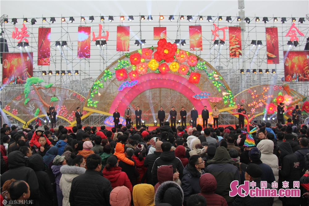 Photo taken on January 30, 2019 shows the open ceremony of the lantern festival in Xiashan District of Weifang, east China&amp;rsquo;s Shandong Provicne. The 4th Xiashan Spring Lantern Festival and the 3rd Xiashan Food Festival kicked off here on Wednesday to welcome the upcoming Chinese Lunar New Year, which falls on Feb. 5 this year.<br/>