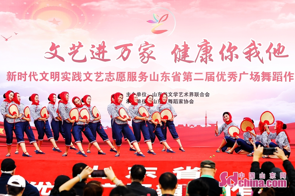Folk artists perform during the volunteer service event for benefiting the masses with culture and arts. The event was held from Oct. 12 to 15, 2019 in Jinan, Qufu, Shouguang and Fei County.<br/>