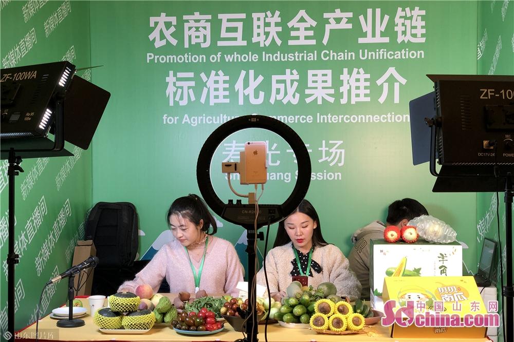 <br/>  在新媒体现场直播展区,八个涉农县市分别设置了直播平台,利用直播销售这一新业态拓展农产品上行渠道。<br/>