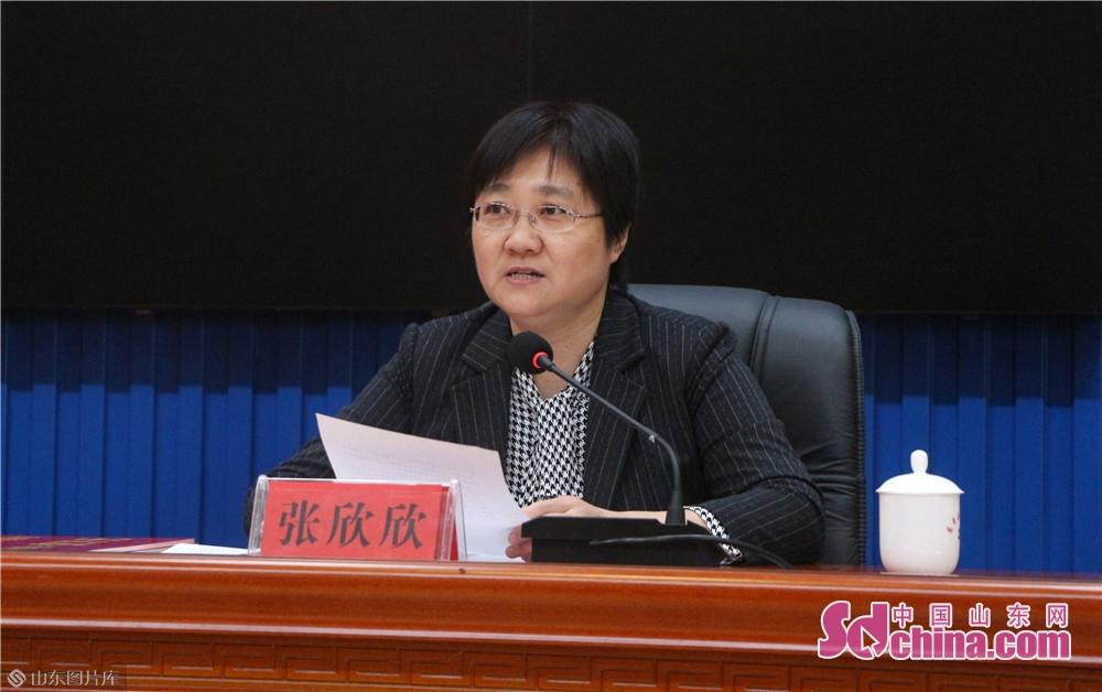 <br/>  高青县副县长张欣欣致辞。<br/>