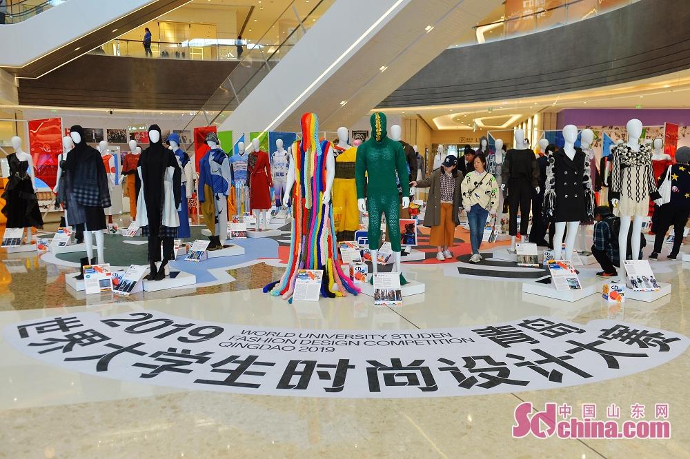 <br/>  11月7日,这是在青岛市万象城举办的2019青岛世界大学生时尚设计大赛作&middot;品展现场。<br/>