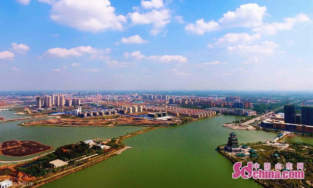 时下,走进成武文亭湖,俨然踏进江南水乡