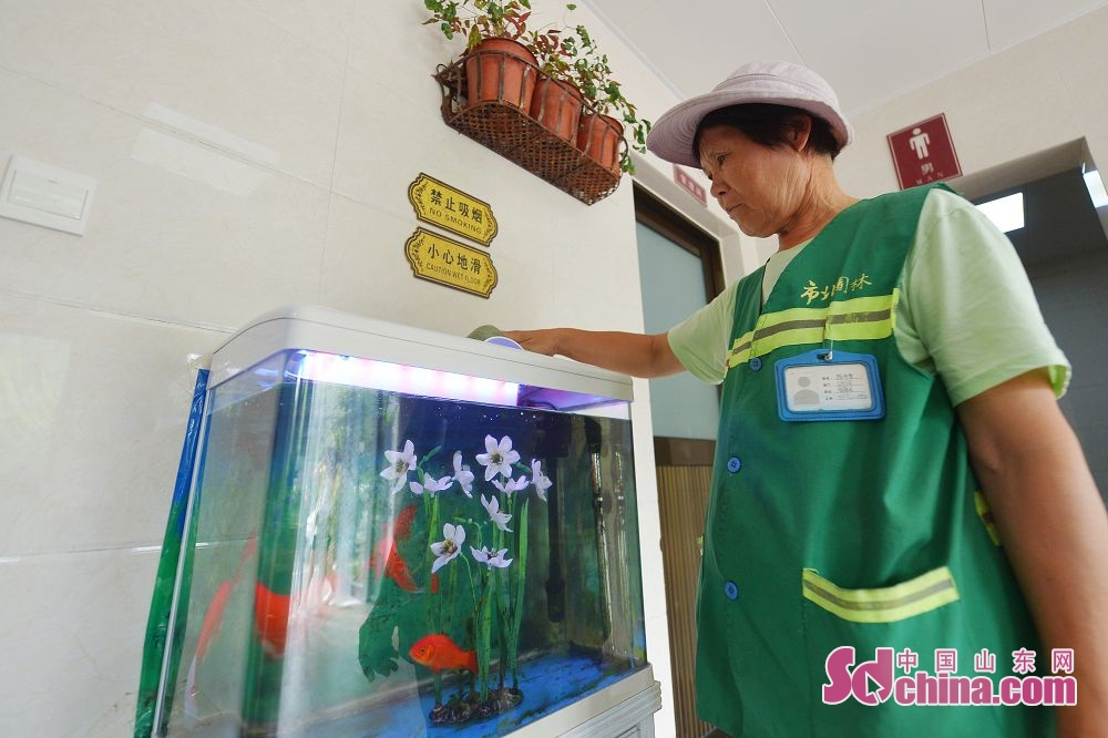 <br/>  7月12日,这是在山东省青岛市市北区北岭山森林公园公共卫生间内拍摄的设施场景。<br/>