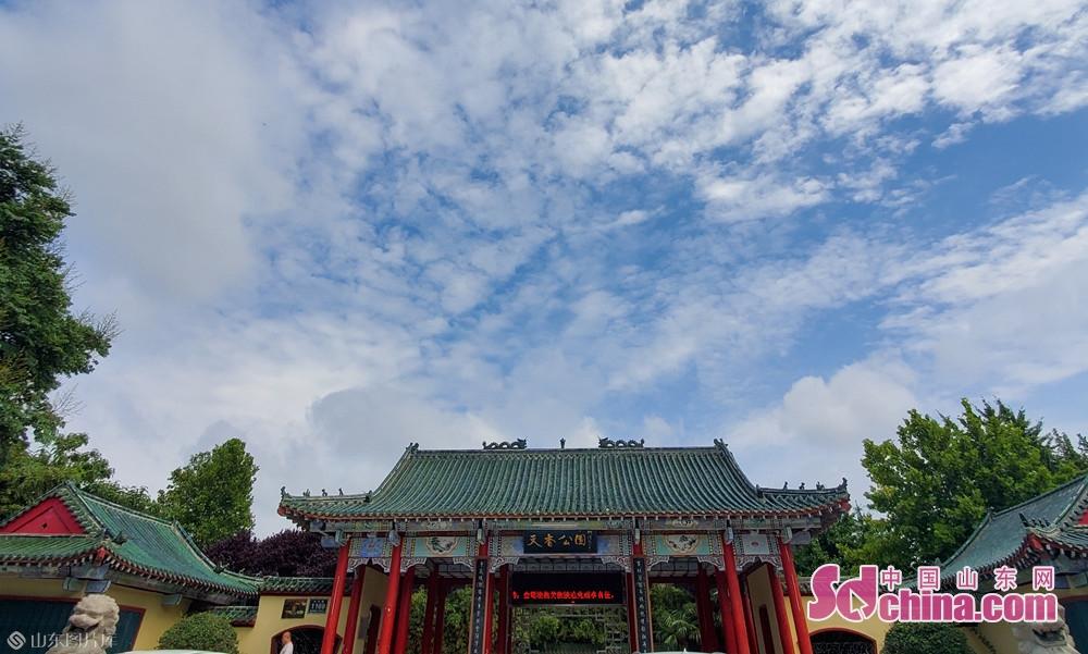 8月13日10点30分, 山东菏泽 天香公园。<br/>