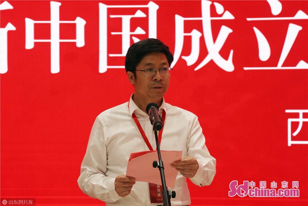 <br/>  淄川区委副书记、区长闫桂新主持开幕式。<br/>