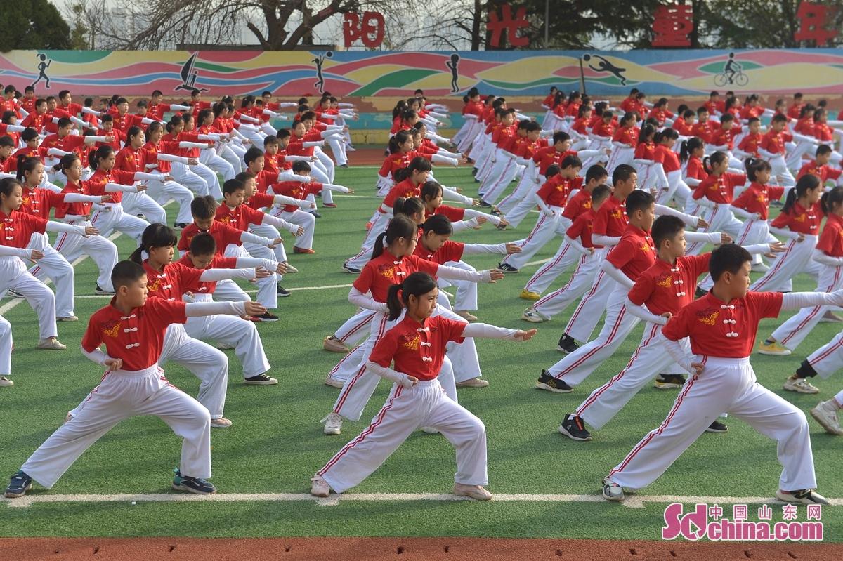 <br/>  11月5日,学生在&ldquo;传统武术健身课&rdquo;主题活动上演练五步拳。<br/>