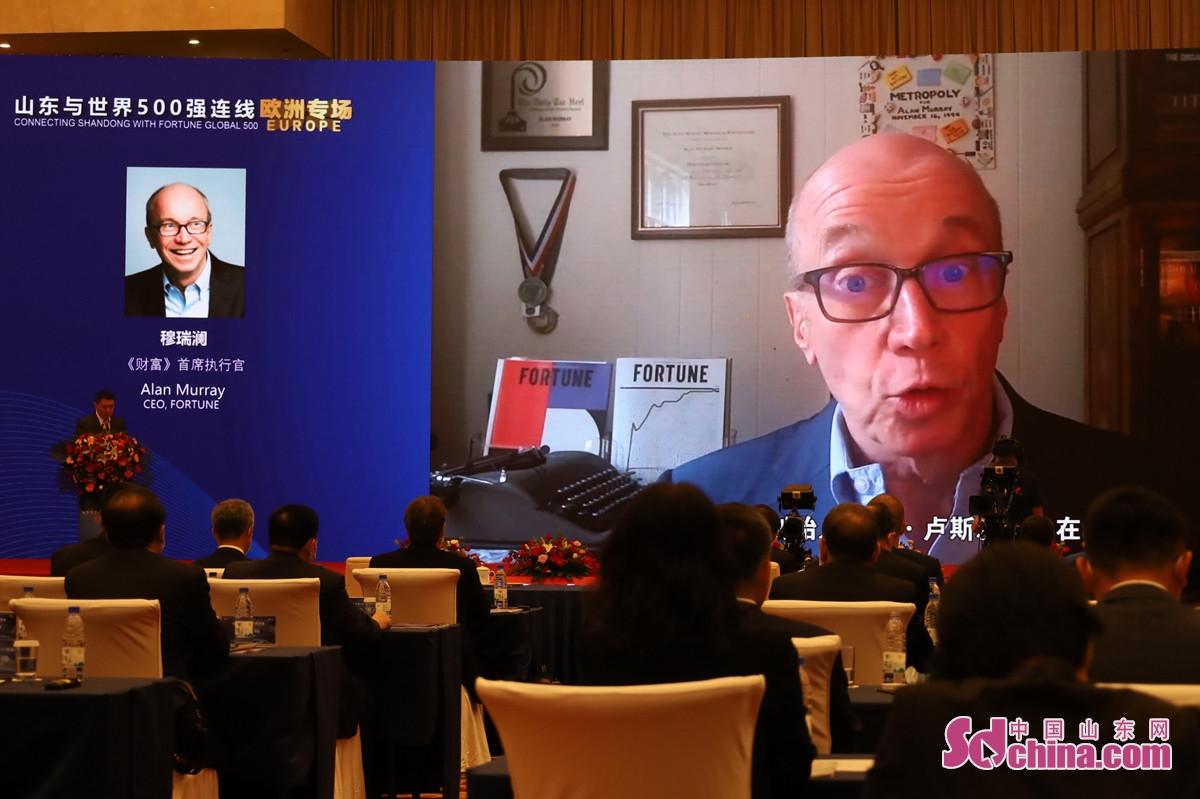 <br/>  活动的第一阶段为嘉宾致辞与领导连线。活动邀请《财富》首席执行官穆瑞澜(Alan Murray)、中国欧盟商会副主席彦辞(Jens Eskelund)、联合国《世界投资报告》主编兼联合国贸易和发展会议投资和企业司司长詹晓宁(James Zhan)等嘉宾以视频形式进行了致辞。<br/>