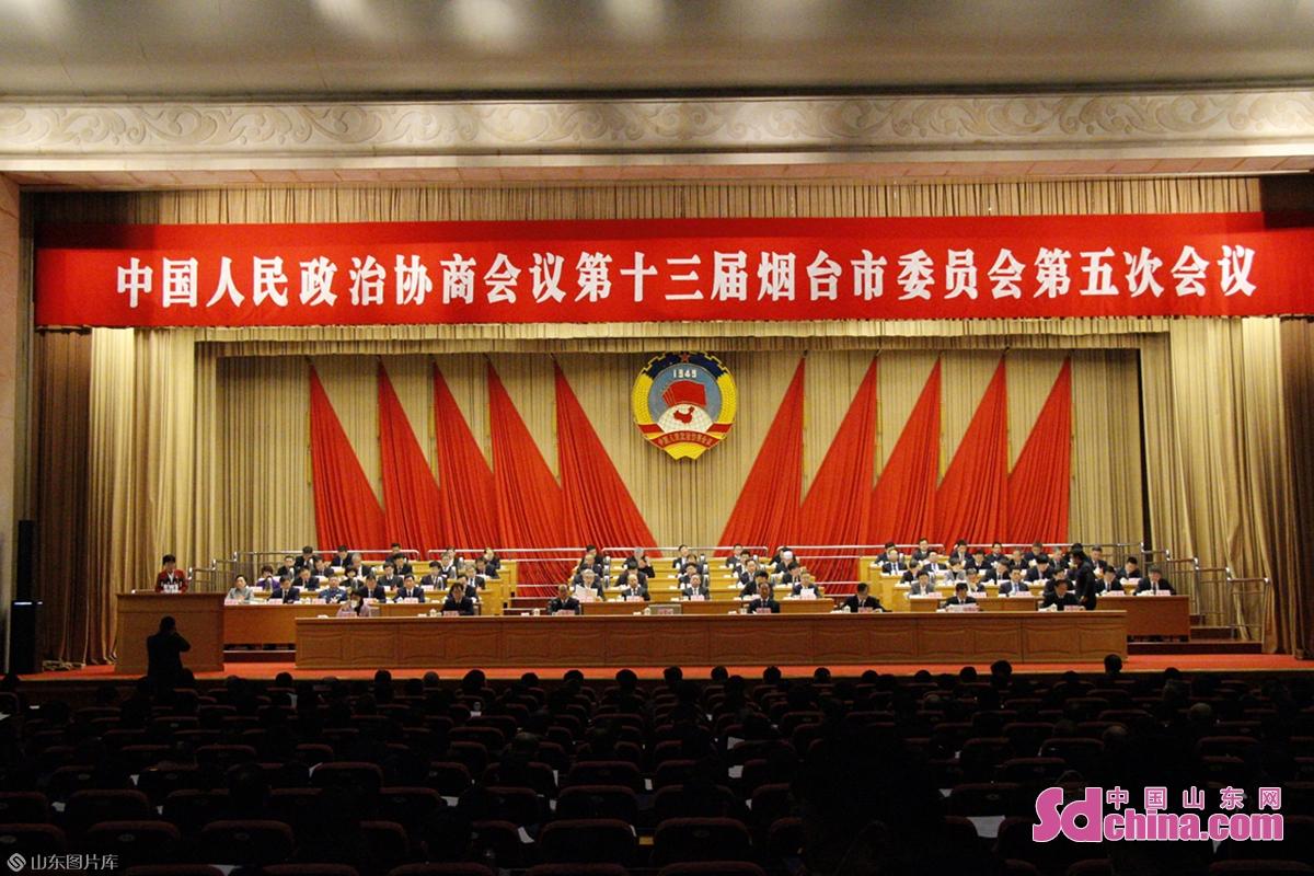 <br/>  19日上午,中国人民政治协商会议第十三届烟台市委员会第五次会议在烟台国际博览中心会议中心礼堂开幕。<br/>