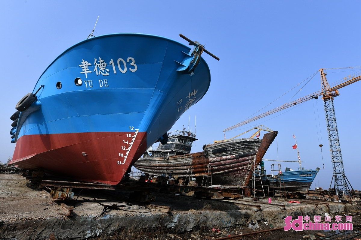 <br/>  近日,山东省青岛市城阳区河套、红岛街道的渔民陆续复工整修船只网具,备战春渔讯。<br/>