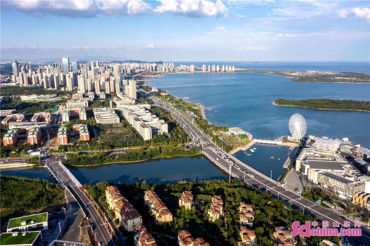 <br/>  2021年9月7日,山东青岛西海岸新区新城逶迤,生机勃发。