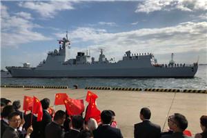 中国海军太原舰访问日本
